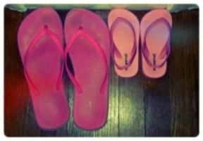 pink flip flop shoes
