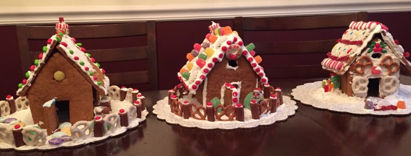 decorated gingerbread house candy house