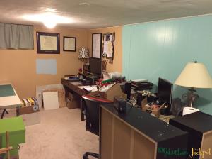Half painted office