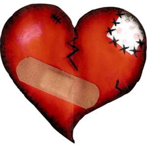 patched up heart broken heart