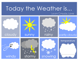 Weather cards