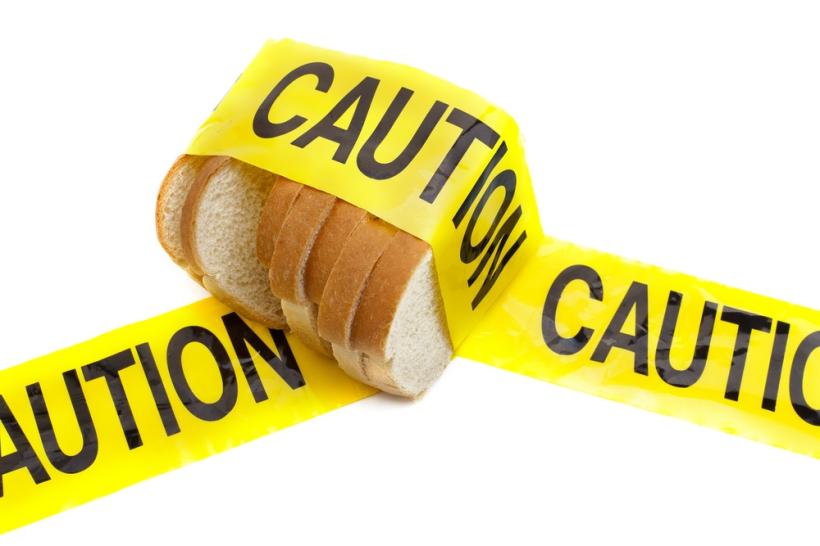 bread caution tape gluten free