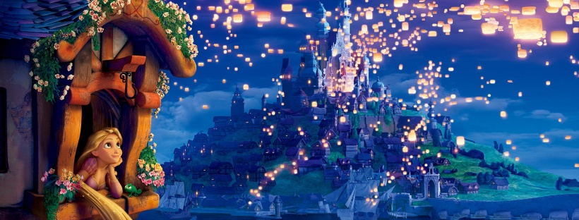 Disney Tangled movie Rapunzel princess dreams lanterns lights night evening Tangled Rapunzel Princess dreams tower flowers lanterns lights