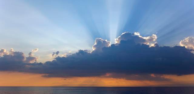 Sunbeam from clouds