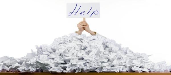 buried under paperwork help sign