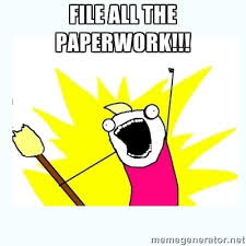 File all the paperwork
