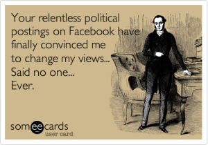Political facebook rants