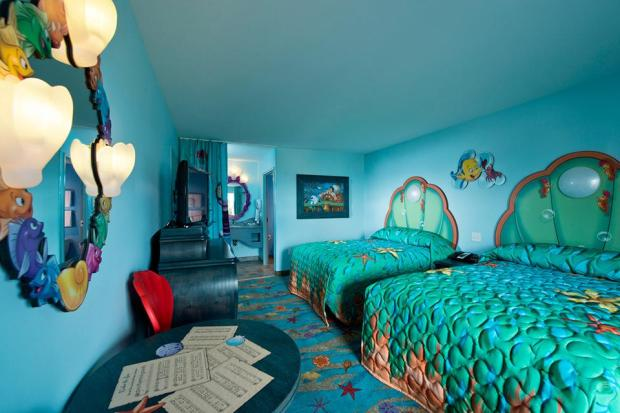Little Mermaid room Art of Animation Disney resort hotel