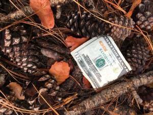 Money on the ground
