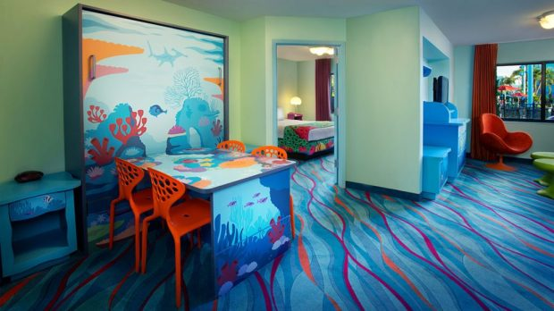 Finding Nemo Family Suite at Art of Animation Disney hotel and resort