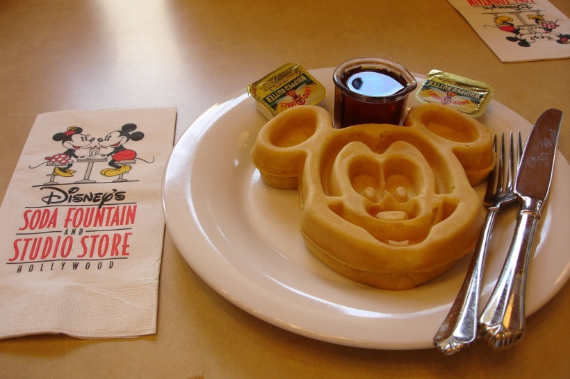 Mickey Mouse Waffle Disney Dining breakfast