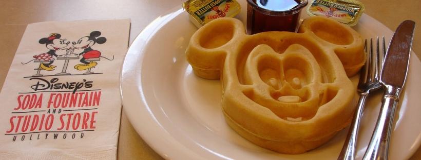 Mickey Mouse Waffle Disney Dining breakfast