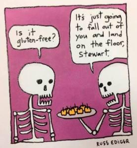 Gluten free gluten-free intolerance sensitivity skeleton cartoon