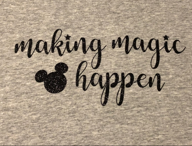 Disney Shirt making magic happen mickey ears cricut maker