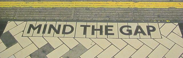 Mind the gap sign London underground metro UK travel