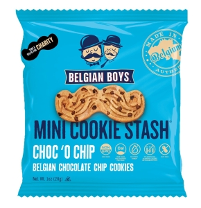 Belgian Boys Moustache cookies chocolate chip