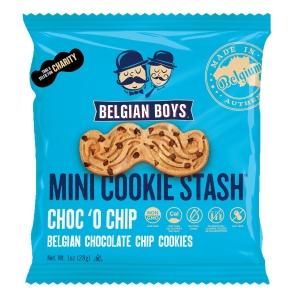 Belgian Boys Moustache cookies chocolate chip