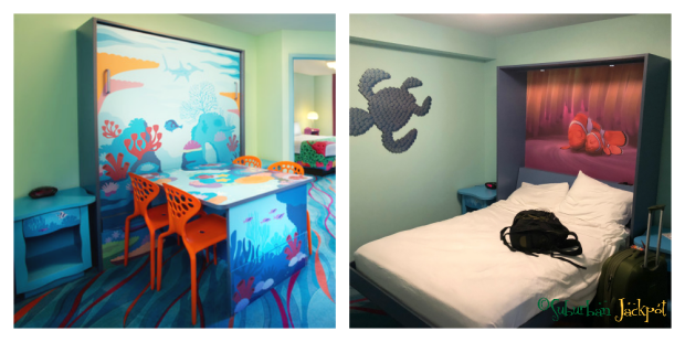 Disney Pixar Finding Nemo Murphy Bed Table Art of Animation Family Suite