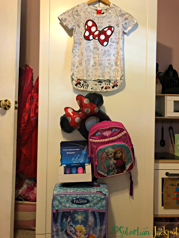 Disney trip reveal minnie shirt frozen luggage bag baggage backpack ears magic bands surprise