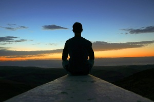 meditating meditation meditate calm peaceful sunset