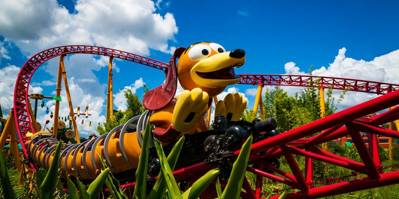Slinky Dog Dash Toy Story Land Hollywood Studios Disney World Roller Coaster