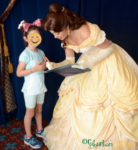 Belle character meeting character breakfast Akershus Walt Disney World Epcot