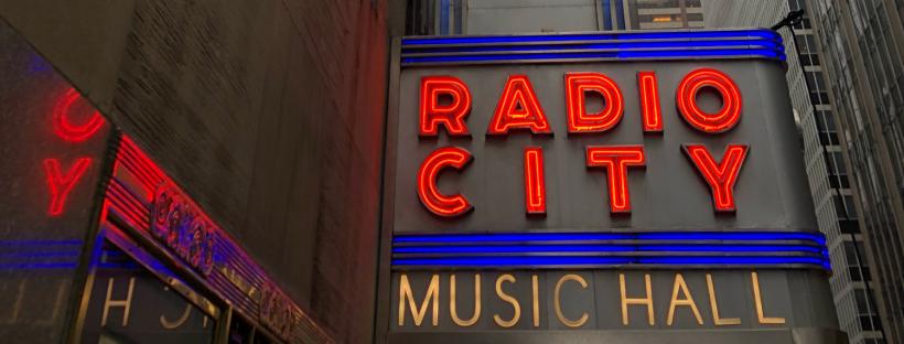 Radio City Music Hall Sign New York City NYC