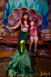 Disney World Magic Kingdom Ariel Little Mermaid Grotto Character meet and greet