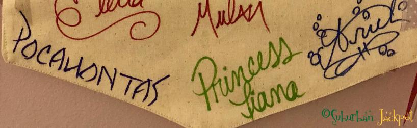 Walt Disney World Character Autographs Meet and Greet Princess Pocahontas Tiana Elena Ariel Mulan Elsa Tinker Bell