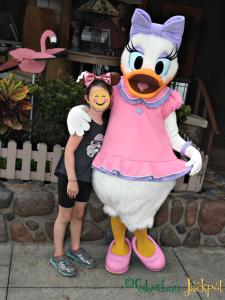 Walt Disney Hollywood Studios Daisy Character Meet and Greet