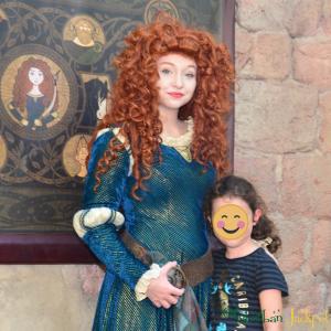 Walt Disney World Magic Kingdom Merida Brave Fairytale Garden Character Meet and Greet