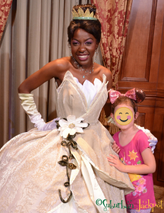 Walt Disney World Tiana Princess and the Frog Character Meet and Greet Fairytale Hall