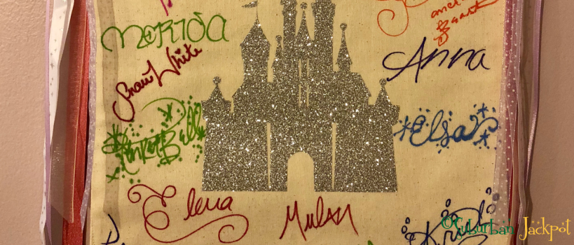 Walt Disney World Castle Princess character autographs Merida Snow White Anna Elsa Frozen Elena Ariel Mulan