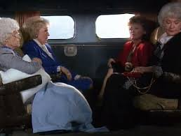 Golden Girls travel plane st olaf