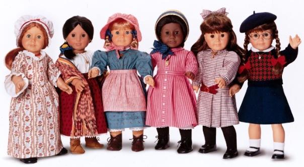 Pleasant Company American Girl dolls Kirsten Addy Samantha Molly