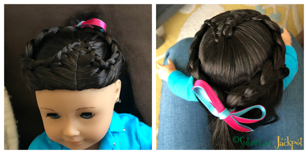 American Girl Hair Salon Hairstyle sweetheart braid plate