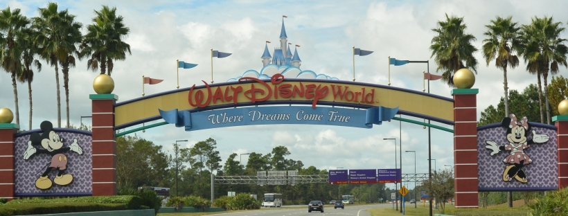 Disney World Entrance main road highway welcome home
