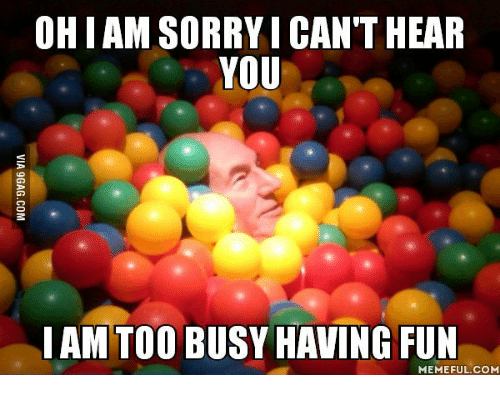 Patrick Stewart Picard having fun ball pit meme
