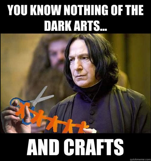 Harry Potter Snape arts and crafts