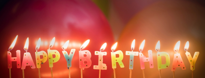 Happy Birthday candles balloons